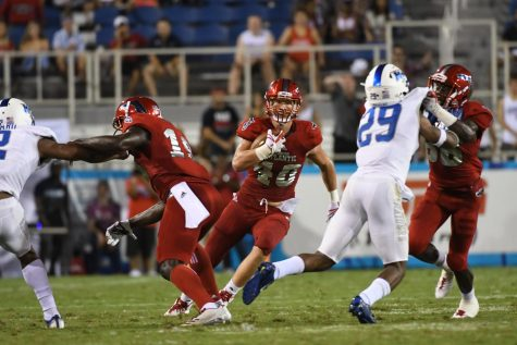 Harrison Bryant is one of three finalists for the award alongside Washington's Hunter Bryant and University of Miami's Brevin Jordan. Photo courtesy of FAU Media Relations.