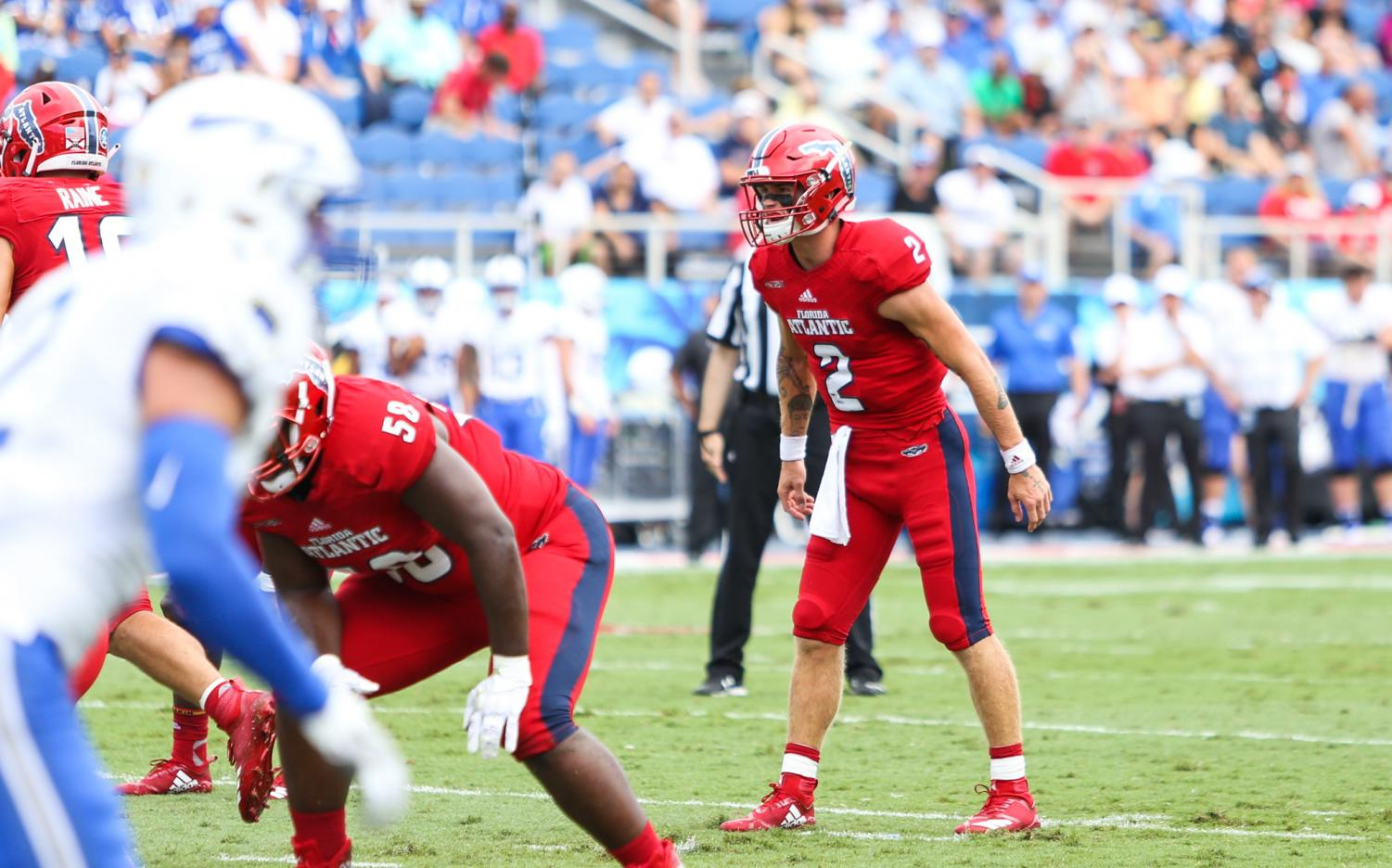 FAU redshirt sophomore QB Chris Robison reinstated with the team after receiving an indefinite suspension back in March.  Photo by: Alexander Rodriguez