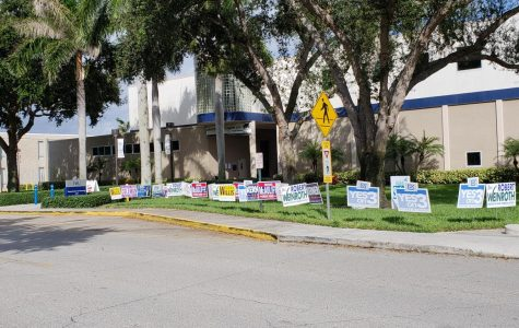 Early voting site opens on Boca campus, draws almost 100 people