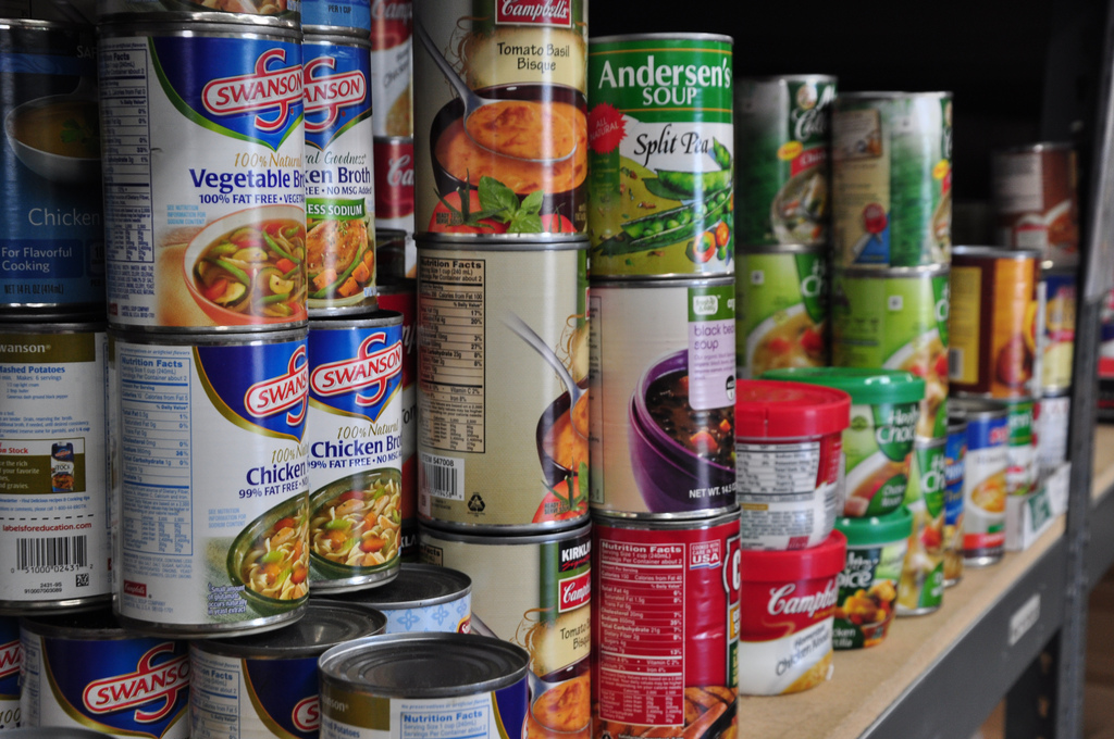 The program takes donations of canned food at the Weppner Center in the Student Union, room  214. Photo courtesy of Flickr
