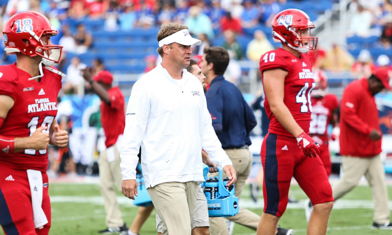 FAU head coach Lane Kiffin once again attracts another former NFL players son, this time being Rahsaan Lewis. Photo by: Alexander Rodriguez