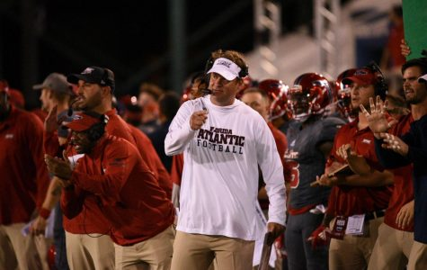 FAU head coach Lane Kiffin enters in his third season trying to improve from a 5-7 record last season. Photo by: Pierce Herrmann
