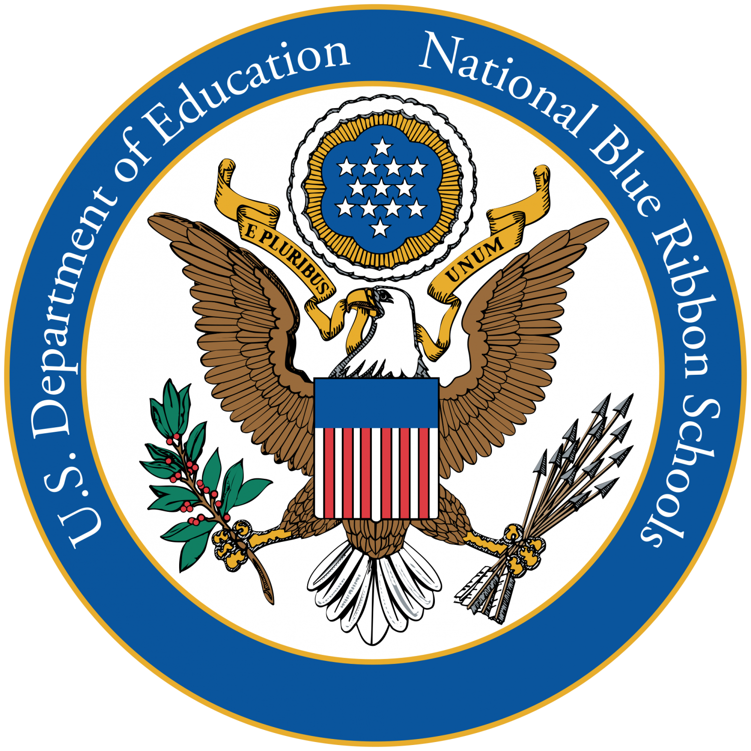 The Blue Ribbon Award recognizes schools across the U.S. based on student's academic achievements. Image courtesy of Wikimedia Commons