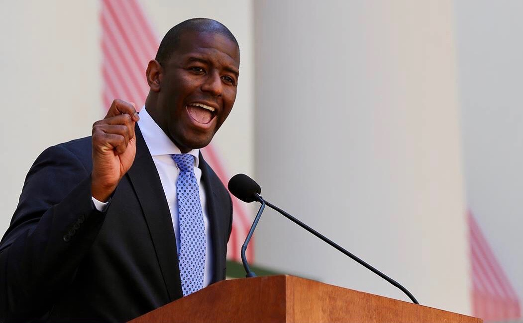 Andrew Gillum plans to enact gun control if he wins the election, and is also in favor of cheaper college education. Photo courtesy of Andrew Gillum's Facebook