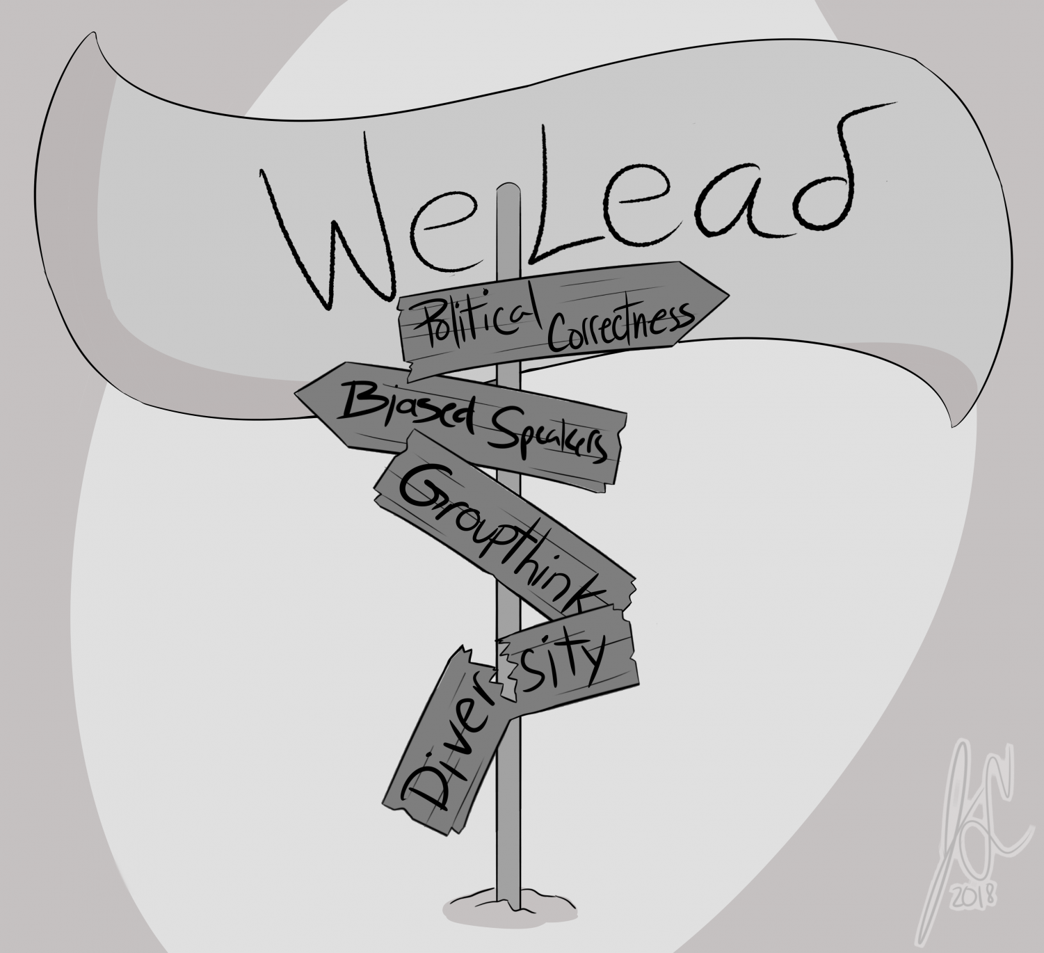 FAU holds the WeLead conference in the Spring semester. Illustration by Joey Sena