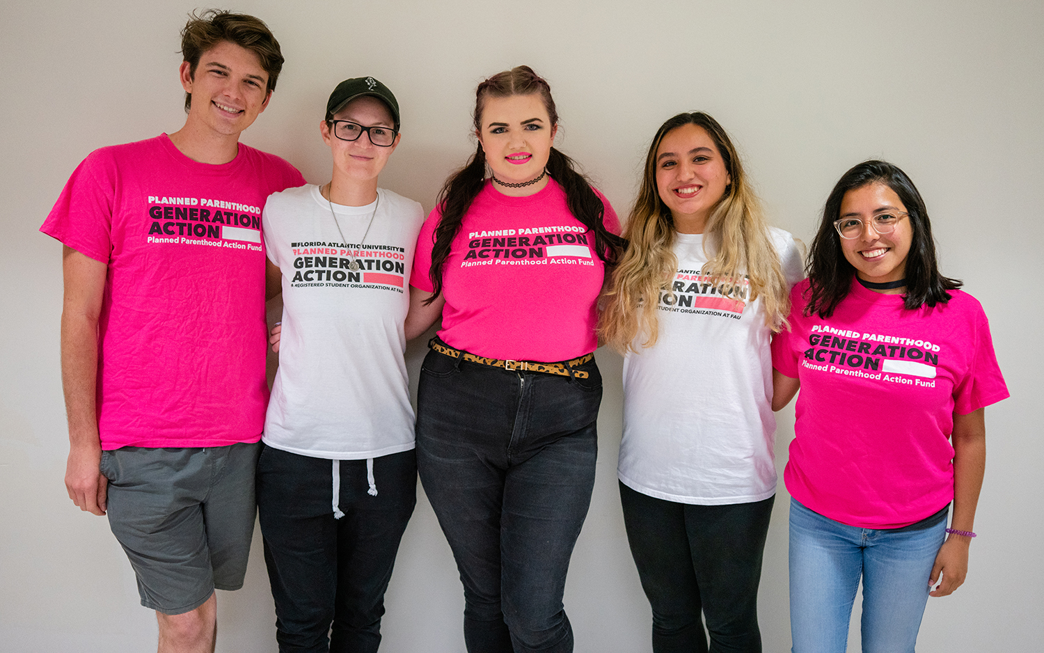 You can find the group handing out condoms on the breezeway. Picture left to right: Alex Bruens, Ally Walchak, Natasha Roberts, Photo by Alex Liscio