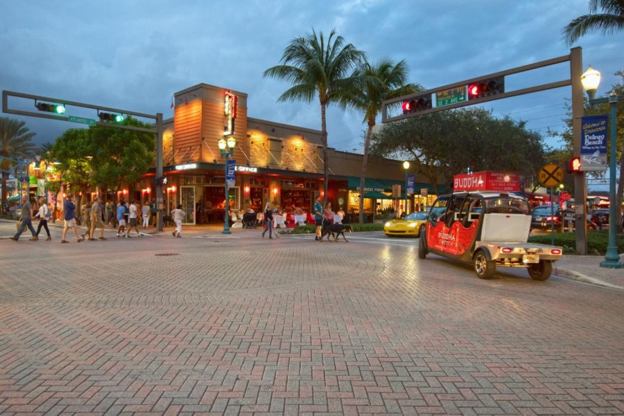 Photo of Downtown Delray courtesy of the Delray Beach website