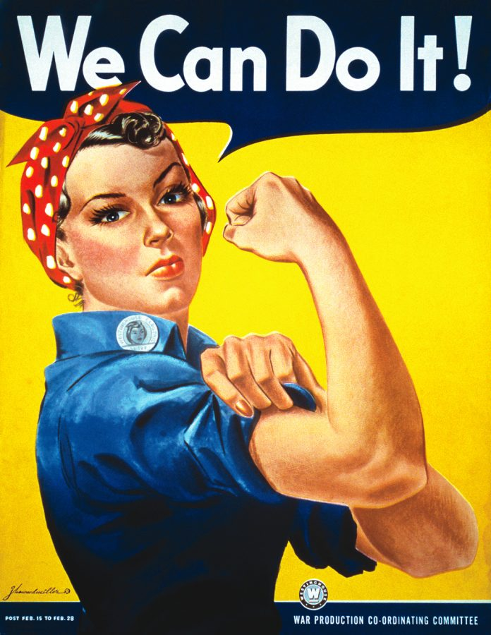 Rosie the Riveter, courtesy of Wikipedia