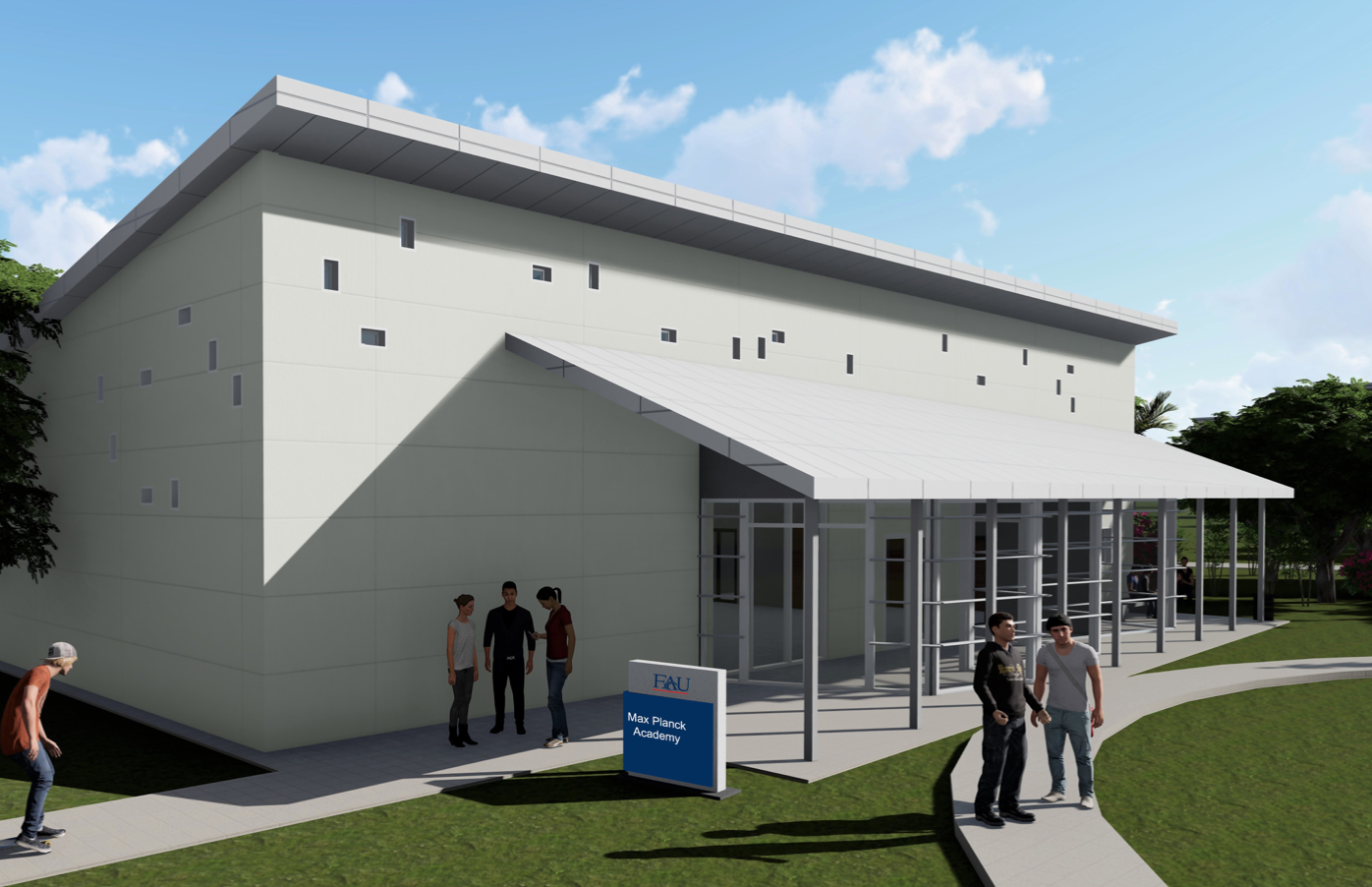 FAU has created 3-D models depicting what they expect the Max Planck Academy building to look like. Photo courtesy of FAU