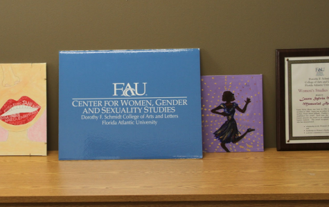 FAU's Center for Women, Gender, and Sexuality Studies is filled with handmade feminist artwork. Photo by Hope Dean