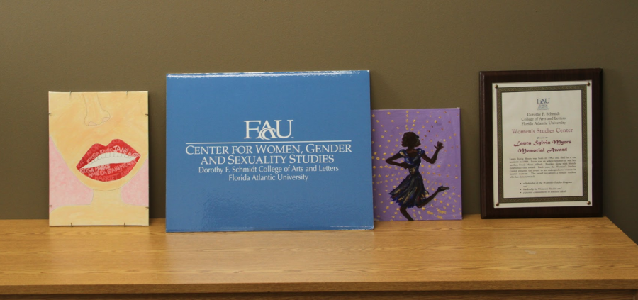 FAU%27s+Center+for+Women%2C+Gender%2C+and+Sexuality+Studies+is+filled+with+handmade+feminist+artwork.+Photo+by+Hope+Dean+