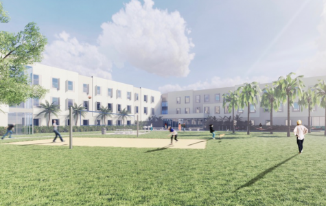 FAU has created digitally rendered images of what they expect the new dorms to look like, with the Jupiter facility pictured above. Photo courtesy of FAU