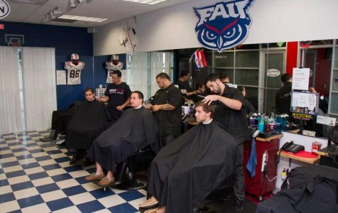 'A true convenience': FAU barber shop sponsors local charities, connects with FAU students