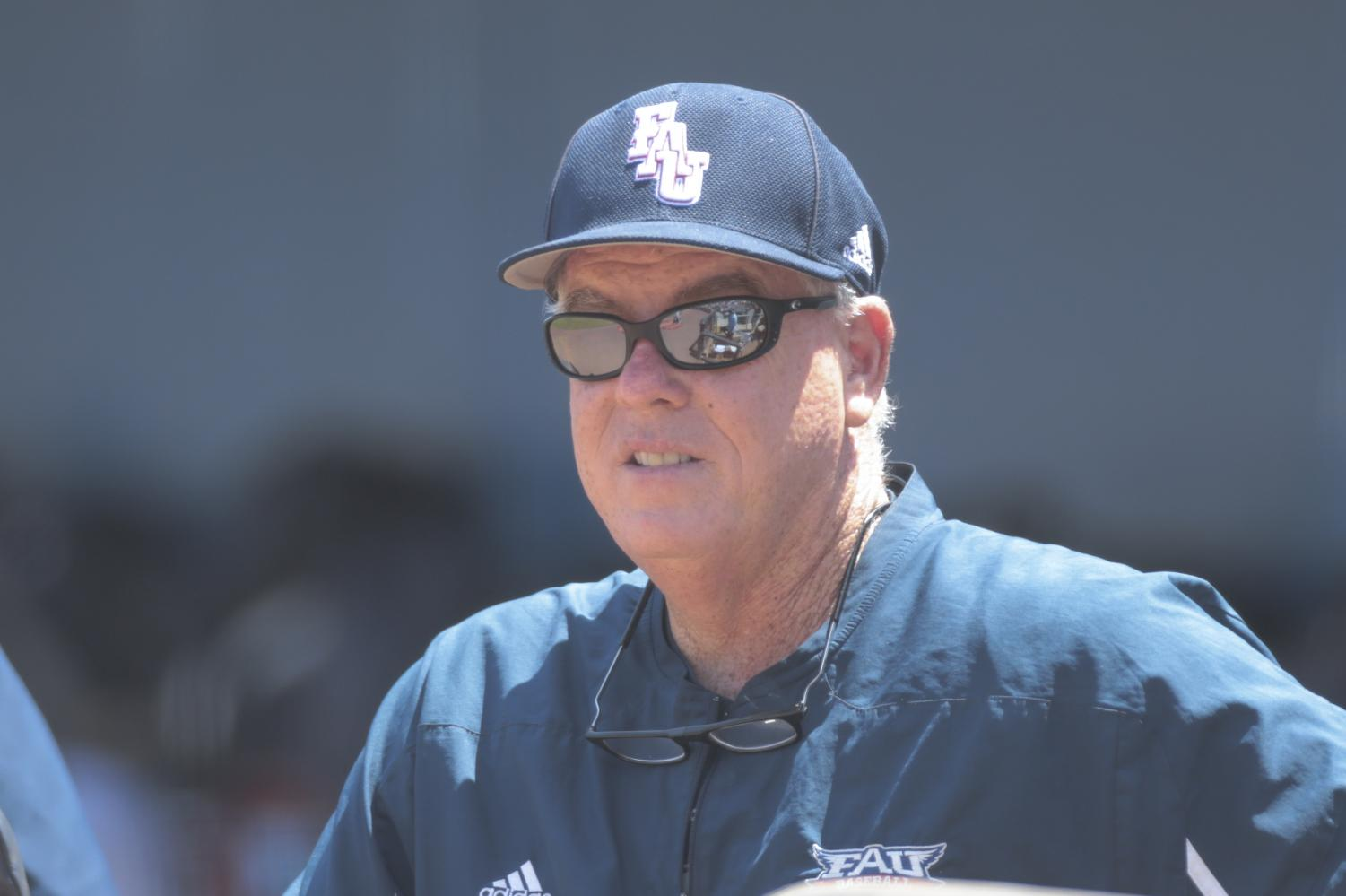 Coach John McCormack led FAU to a 40-win season, but couldn't finish it off with a Conference USA championship. Jordan Foreman/Conference USA.