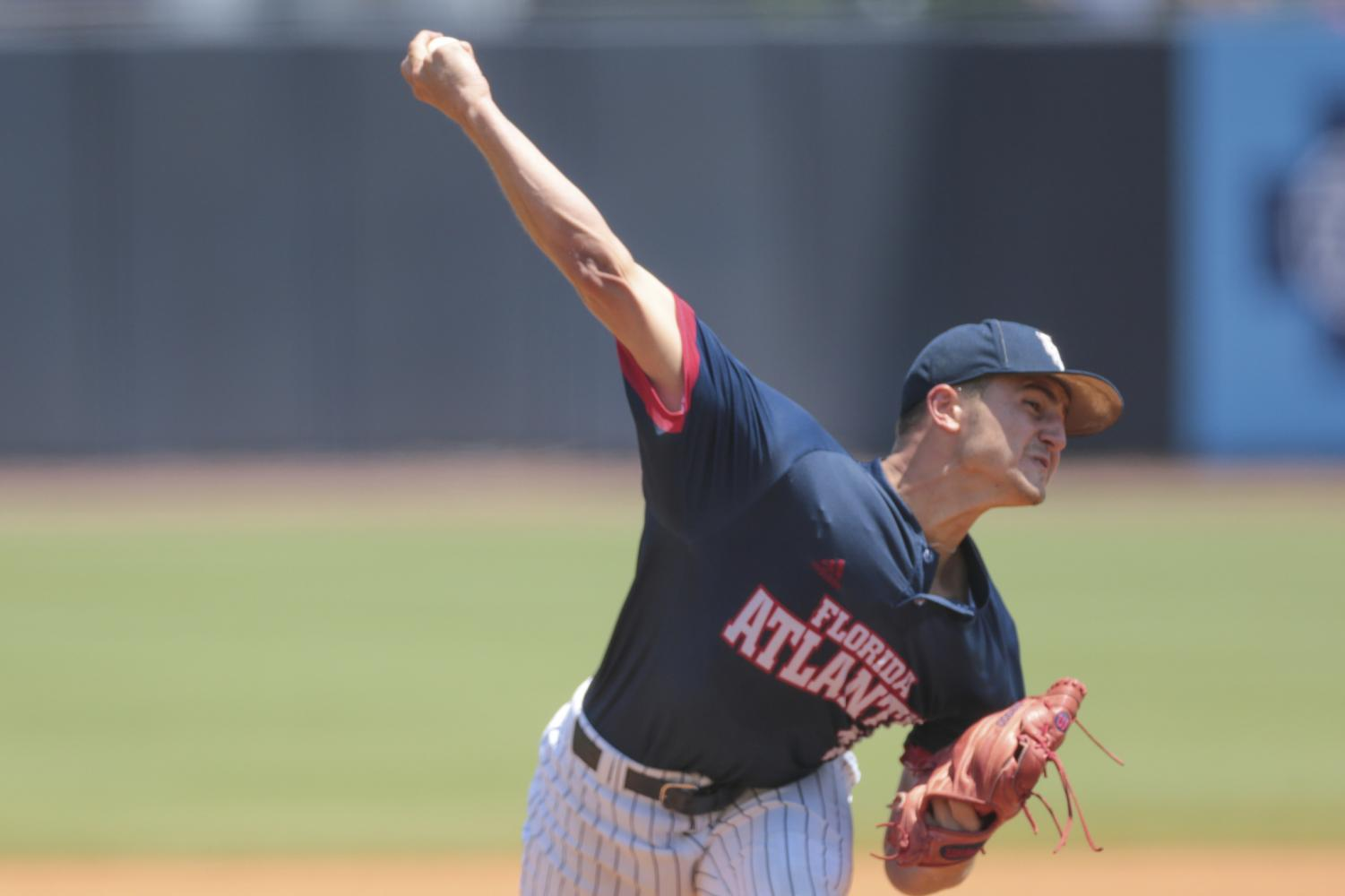 Vince Coletti was third pitcher brought into the game after Mike Ruff and Dylan O'Connell. Jordan Foreman/Conference USA