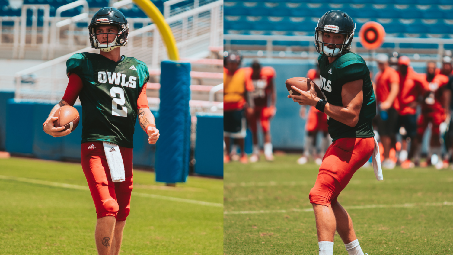 Chris Robison (Left) and Nick Tronti (Right) are currently in competition for the starting job at signal caller. Photo by: Alex Liscio