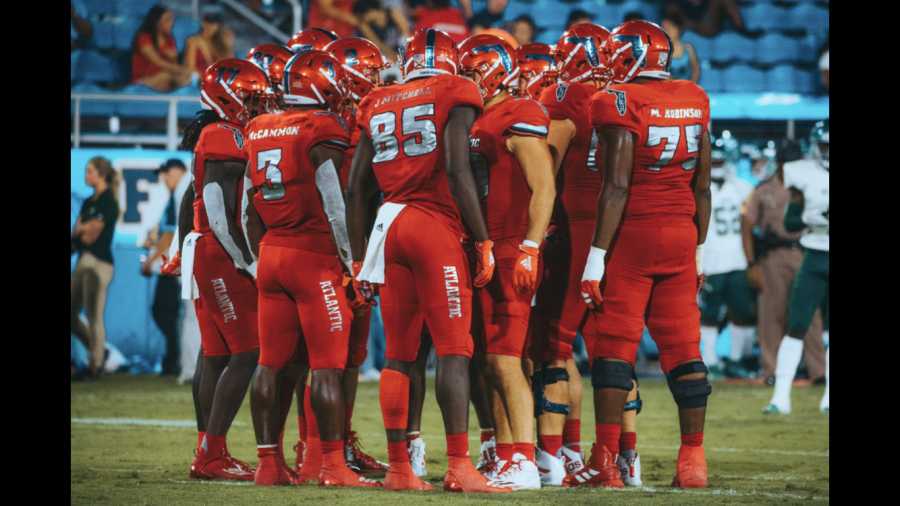 FAU heads into conference play as they travel on the road against Charlotte after beating Wagner, 42-7. Photo by: Alex Liscio
