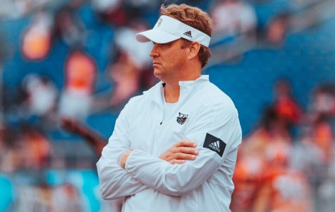 Head coach Lane Kiffin and the Owls come off of their third loss of the season against Marshall. Photo by: Alex Liscio