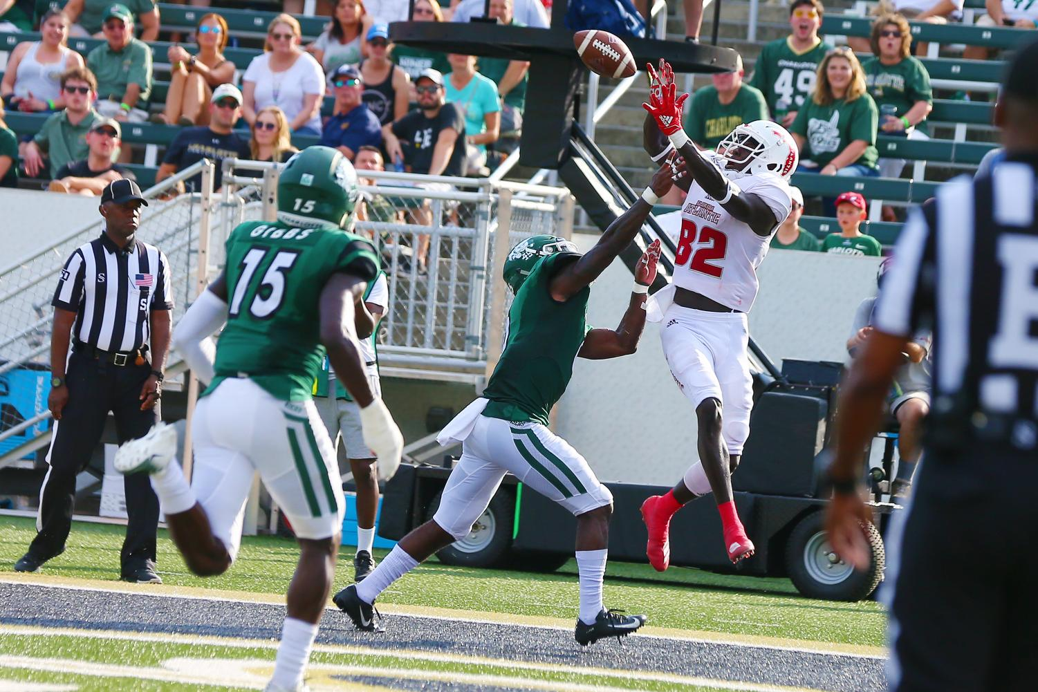 As FAU prepares for action after the bye, the recievers need to stay consistent, especially Tavaris Harrison who recorded a touchdown against Charlotte. Photo courtesy of FAU Athletics.