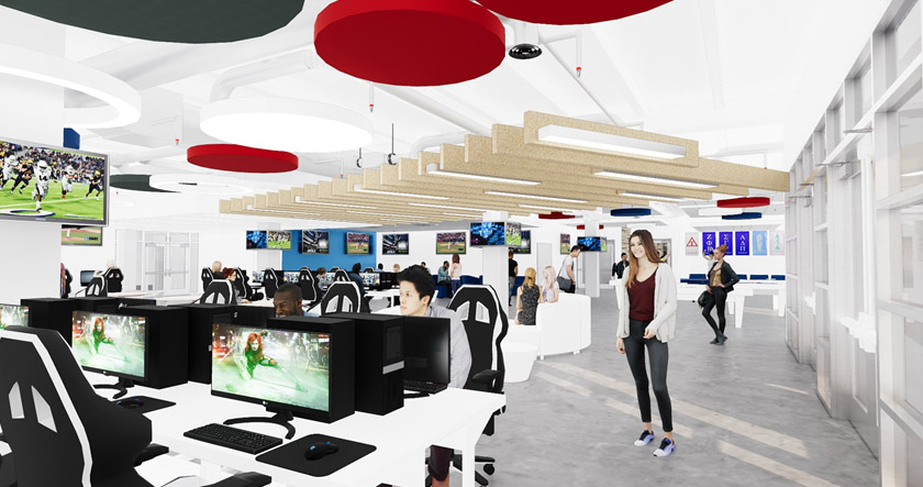 Rendering+of+esports+arena+in+the+Student+Union%2C+image+courtesy+of+FAU.