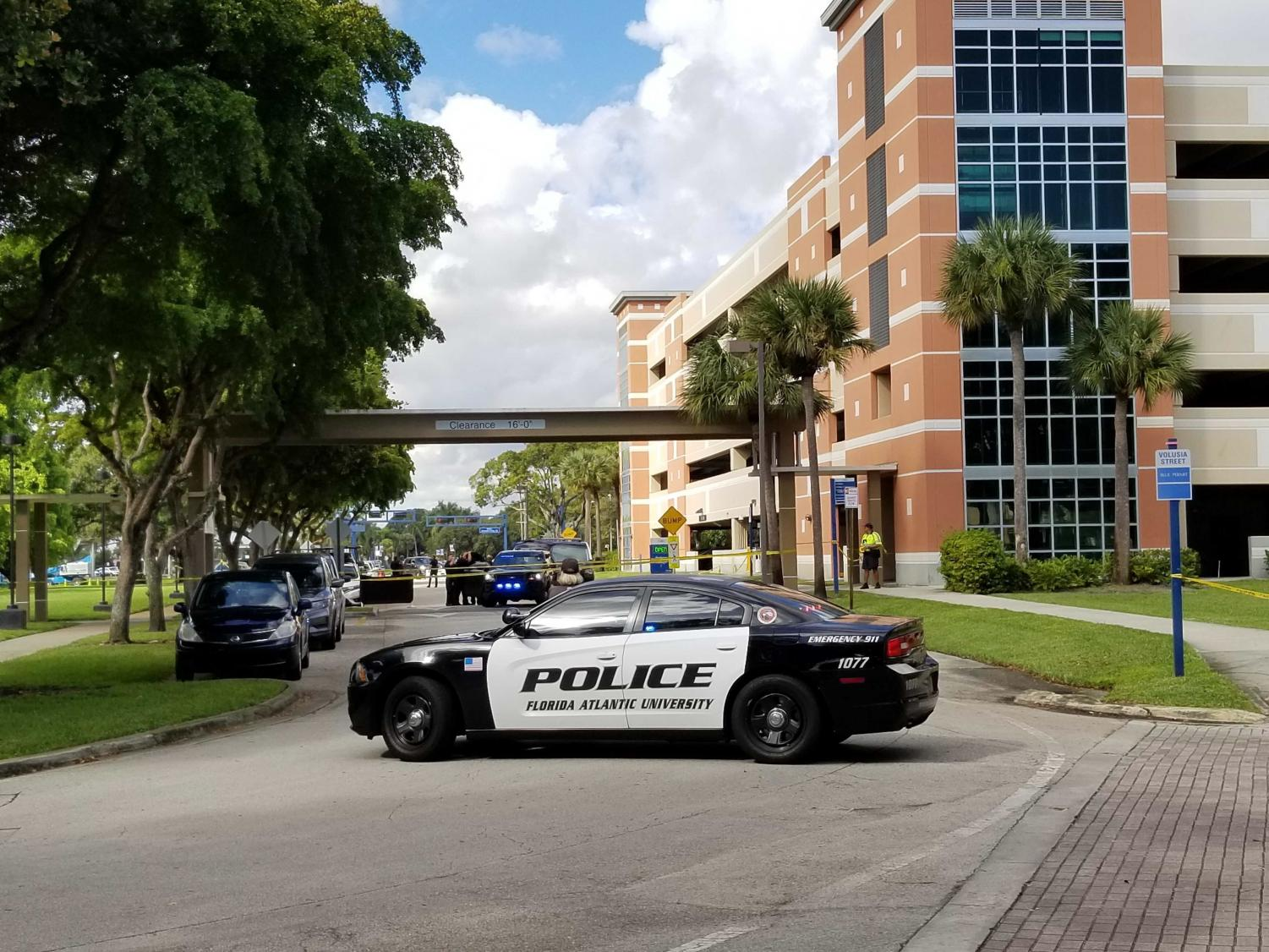 Police say there was no threat to campus and normal operations have resumed.  Photo by Kimberly Swan