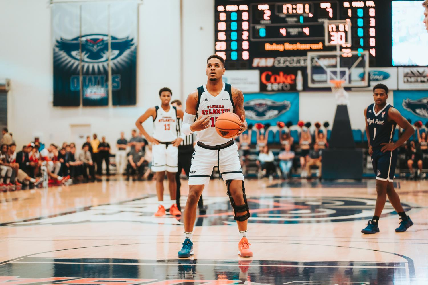 After an ACL injury last year that made Jailyn Ingram miss most of the season, he bounced back against High Point, scoring 19 points and collecting six rebounds. Photo by: Alex Liscio.