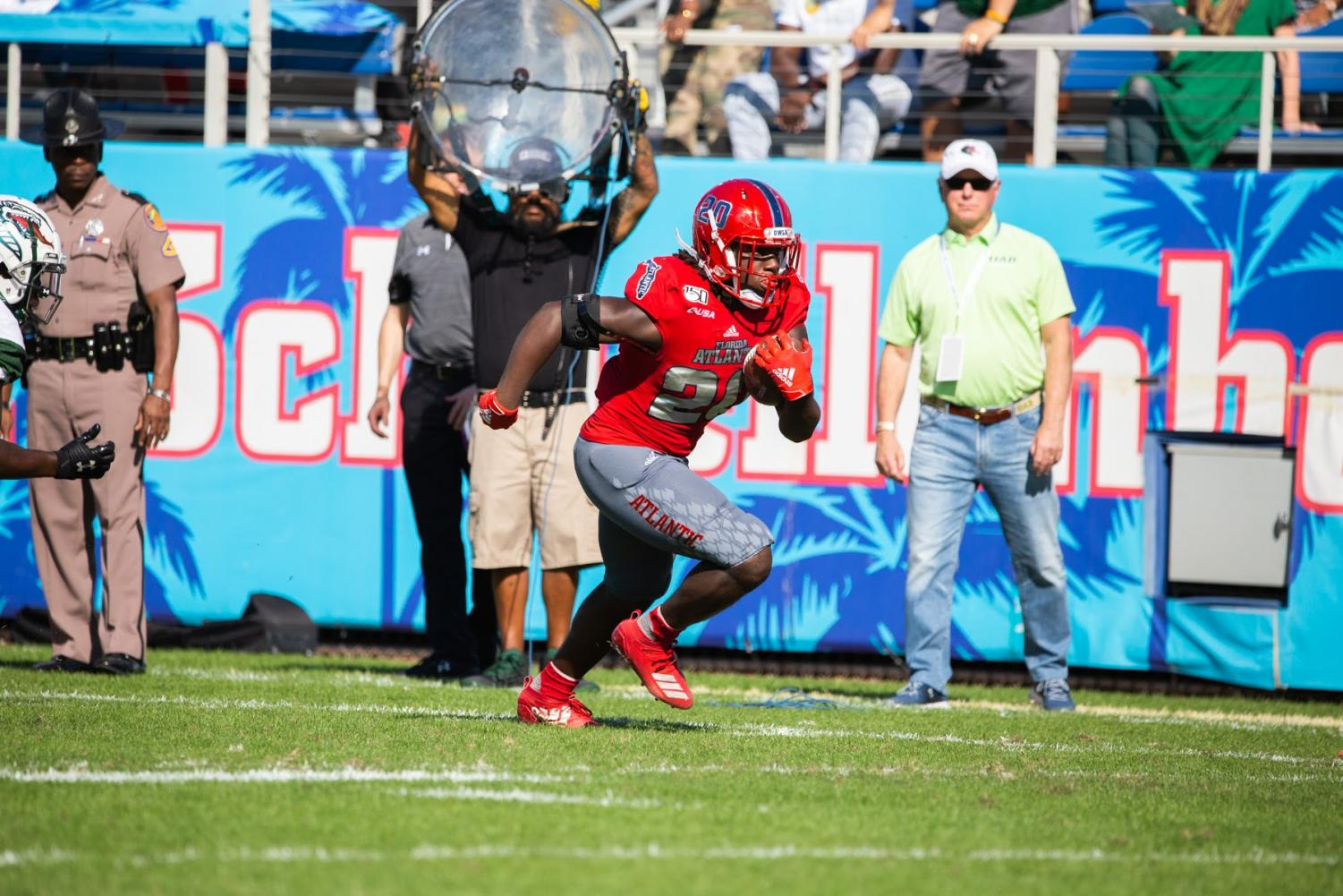 Running back Malcolm Davidson ran for 128 yards on 11 carries in the Conference USA championship game Saturday. Photo by: Alex Liscio.