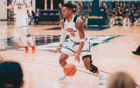 Jailyn Ingram played with almost no limitations after his season ending injury last year. He played 30 minutes and scored 15 points in the win against UTSA. Photo by: Alex Liscio.