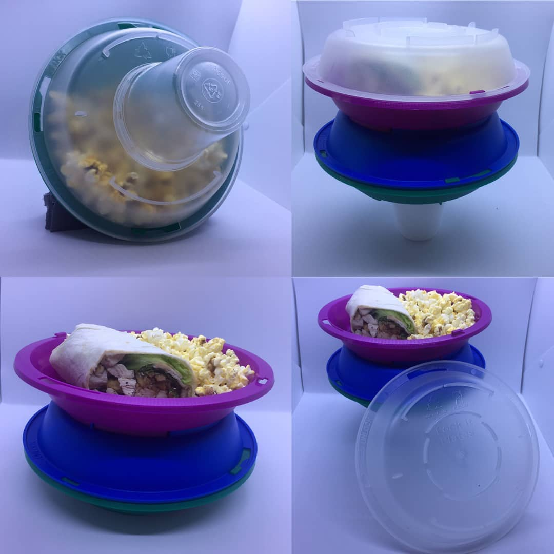 Lock-It Plates are available at the Atlantic Dining Hall and save plastic. Photo courtesy of Lock-It Plates