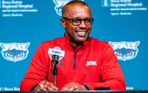 It has been an unusual first season at FAU for Taggart to say the least. Photo by: Alex Liscio.