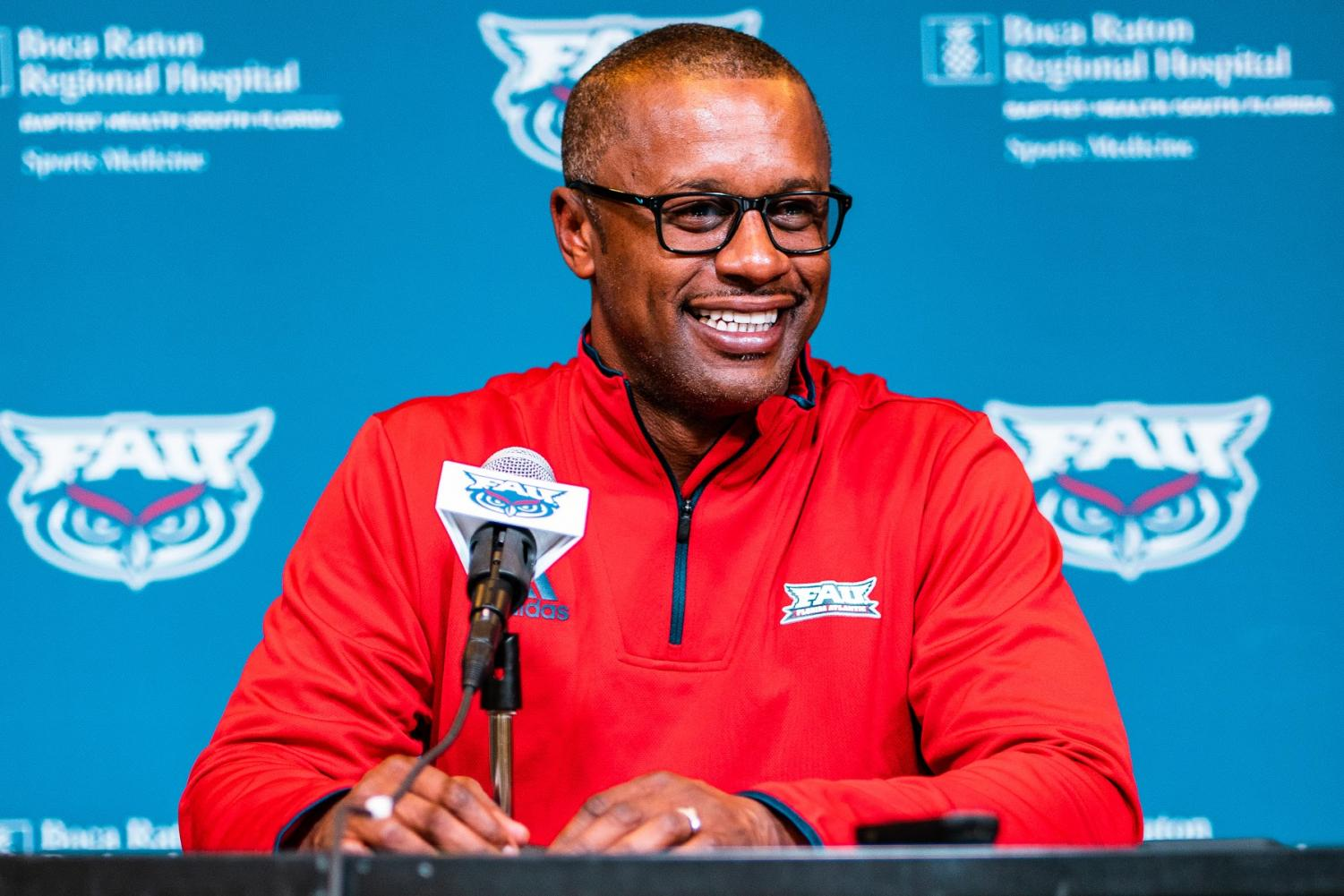FAU head coach Willie Taggart expresses his excitement for his first signing class with the program. Photo by: Alex Liscio.