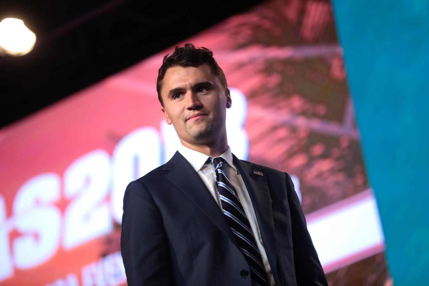 Charlie Kirk speaking with attendees at the 2018 Student Action Summit hosted by Turning Point USA at the Palm Beach County Convention Center in West Palm Beach, Florida. Photo courtesy of Gage Skidmore/Flickr