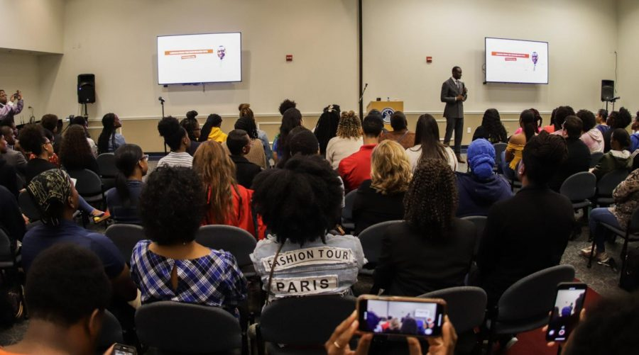 Yusef Salaam, one of the Central Park 5, spoke at FAU last Friday. Photo by Jesse Gann