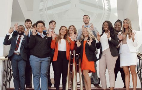 Student Government officials and students at the Florida Capitol in November. Photo courtesy of Student body Vice President Celine Persaud's Instagram.