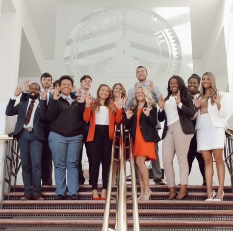 Student Government officials and students at the Florida Capitol in November. Photo courtesy of Student body Vice President Celine Persaud