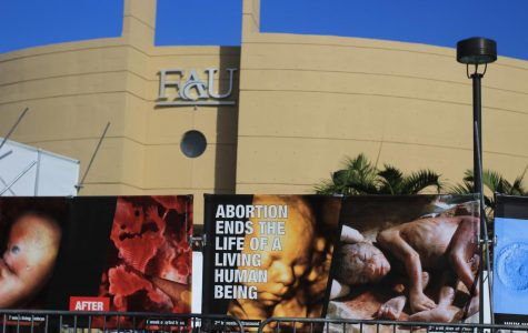Pro-life organization uses graphic photos to protest on Boca campus