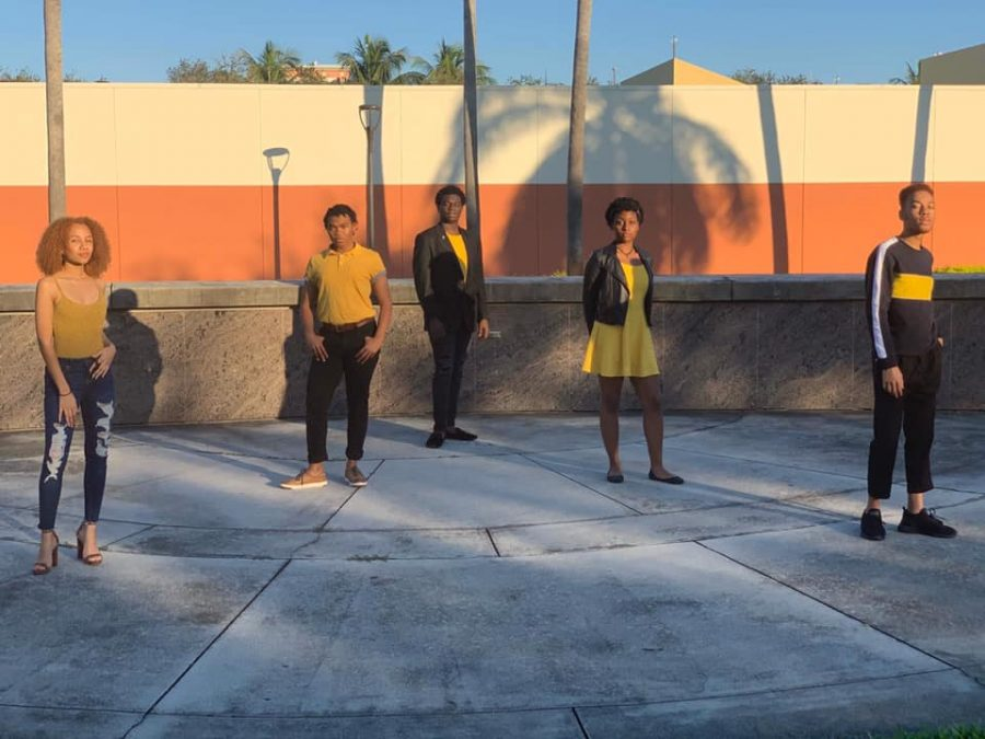 The five founders of the Black Undergraduate Theatre Collective. Photo courtesy of Corey Rose