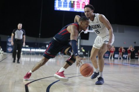 Owls forward Jailyn Ingram scored a team-high 22 points and collected seven rebounds. Photo courtesy of Old Dominion Athletics.