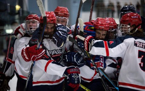 The FAU Ice Hockey Club finishes the season at 17-6-1. Photo by team photographer Kim Smith.