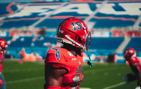 Dotson made an impact in his one season at FAU, recording a program record nine interceptions.  Photo by Alex Liscio.