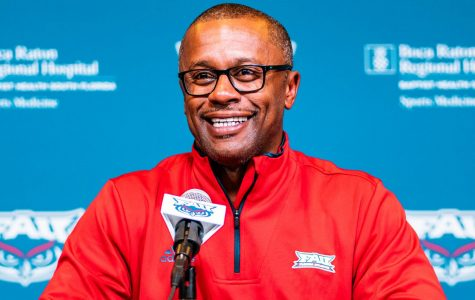 FAU head coach Willie Taggart is met with complications in his first year as the threat of the coronavirus halts spring camp. Photo by Alex Liscio.