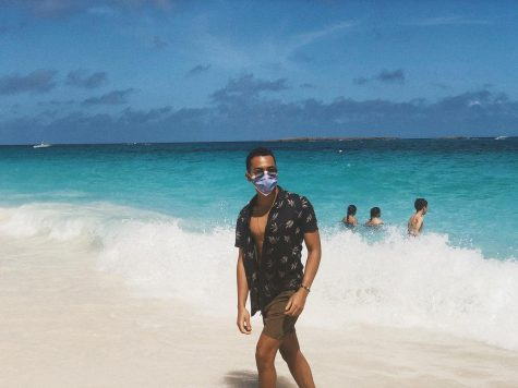 FAU senior Faisal Scott on a trip to the Bahamas after the coronavirus was declared a pandemic by the World Health Organization. Photo courtesy of Faisel Scott