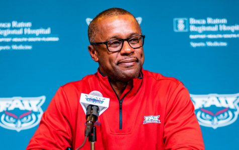This fall will mark the first season with Taggart as the head coach for the Owls. Photo by Alex Liscio.