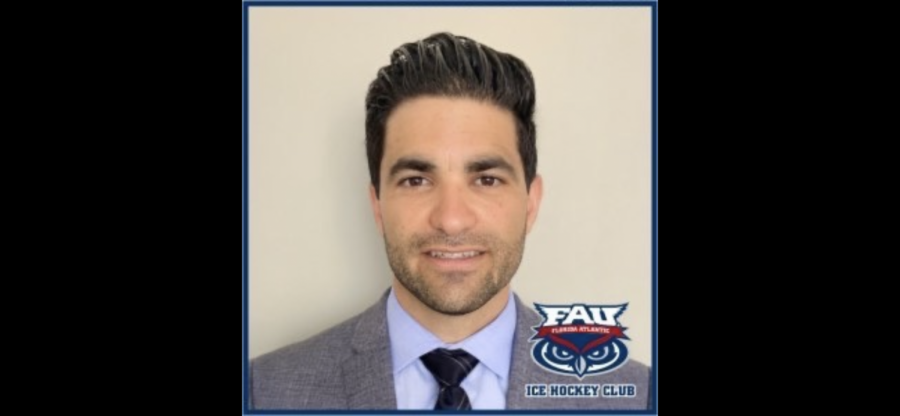 New assistant coach Erik Kirtman joins head coach Vin Morris, who was introduced on May 29 of this year. Photo courtesy of the FAU Ice Hockey Club.