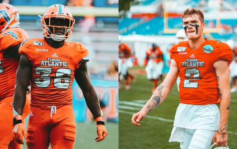 LB Akileis Leroy (Left) and QB Chris Robison (Right) are both on preseason national award watch lists. Photos by Alex Liscio.