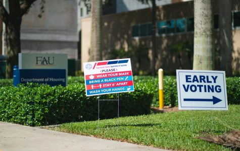 The FAU Housing and Residential Education Building will be open as a polling location until Aug. 16 to registered Palm Beach voters. Photo by Alex Liscio.