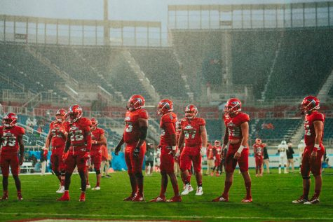 While FAU was preparing for the 2020 season, three positive coronavirus cases halt practices for the FAU Football team. Photo by Alex Liscio.