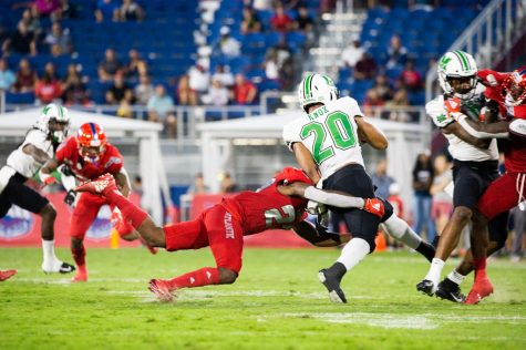 FAU had trouble with Marshall RB Brenden Knox last season as he ran for 220 yards with two touchdowns. Photo by Alex Liscio.