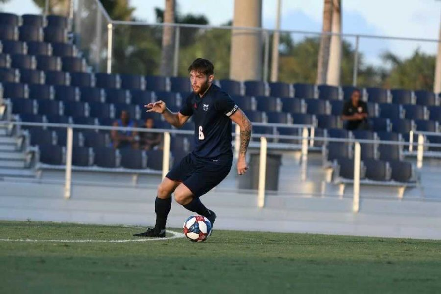 Junior defender Adam O'Sullivan started in each of the Owls' 16 matches last season as a team captain. Photo courtesy of FAU Athletics.