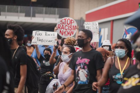 Student organizations and athletes gathered on Sept. 10, 2020 to protest against racial injustice on FAU